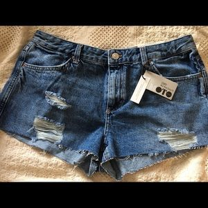 TOPSHOP Cory Mid-rise Easy fit cut offs